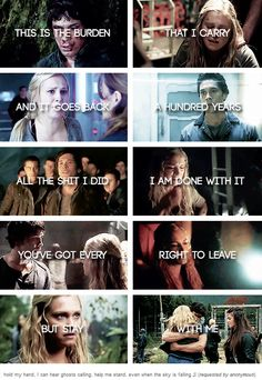 [gifset] #Bellarke stay with me ...... sike...not you will never be as Good as #finlake