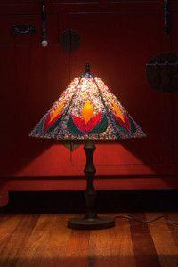 Creative Company | Classy Glass Art: Brightly beaded panel lamps