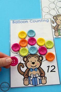 Kindergarten Math Centers - Teen Number Practice and Counting. Numbers Kindergarten, Teaching Numbers, Kindergarten Math Activities, Math Numbers, Math Classroom, Preschool Activities, Decomposing Numbers, Math Games, Maths
