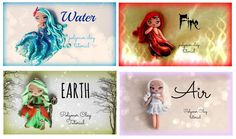 DIY Muñecas de los 4 elementos en porcelana fría