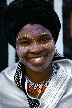 Africa | Xhosa woman in traditional dress at Lesedi Cultural Village.  Near Johannesburg, South Africa | © Martin Harvey/Corbis
