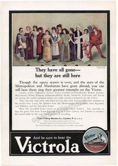 Golden Age Singers - Victrola Vintage Ad 1910