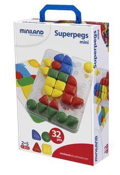 Miniland Superpegs mini, 32 pcs (1 board/ 4 worksheets)