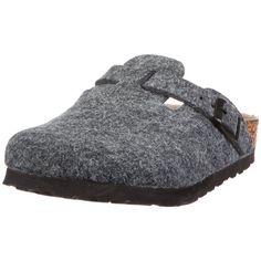 Amazon.com: Birkenstock clogs Boston from Birko-Felt in grey with a regular insole: Shoes