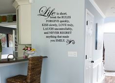 Life is Short Wall Quote Decal by GiftQueenGifts on Etsy, $24.99