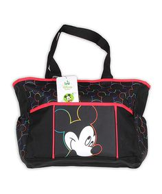 Love this Black & Red Mickey Mouse Diaper Bag by Mickey Mouse on #zulily! #zulilyfinds