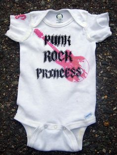 Onesie Punk Rock Princess in Pink by Izzyisms on Etsy, $7.00