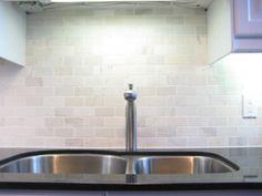 tumbled marble subway tile backsplash For the Home Pinterest