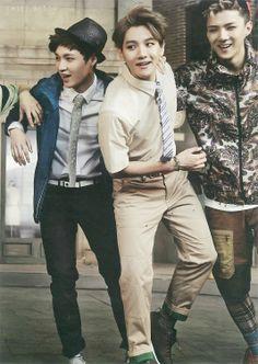 Lay, Baekhyun, & Sehun