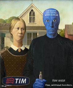 American Gothic Art Parody - TIM WEB by netodark2012