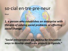 """Social Entrepreneur"": A neat graphic created by our social media lead, Julia Guerra! #socialchange #entrepreneurship #GiveYour100"