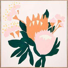 King Protea acrylic on linen 60 x 60cm