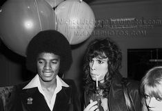 "Tod Papageorge, Michael Jackson and Steven Tyler from ""Aerosmith"" - Studio 54, 1977. Germany 2014: Exhibition ""Excess In Black And White"" at the Gallery Thomas Zander, Cologne"