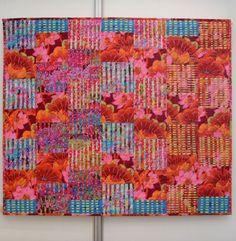 Kaffe Fassett lattice quilt by Marijke Snijders-Witte; posted by Betty Vanos