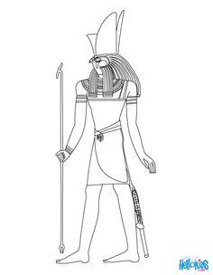 Horus Egyptian goddess & gods Coloring Page