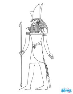 Horus Egyptian goddess & gods Coloring Page