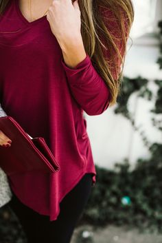 A romantic shade of burgundy on this week's Chic!