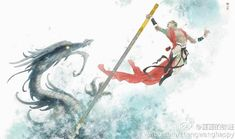 Journey To The West, Monkey King, Monkey Business, Fantasy Inspiration, Chinese Painting, Look Cool, Comics, Graphic Novels, Picture Books