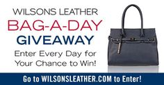 http://woobox.com/i7c276/hit66w I just entered #wilsonsleather Bag-a-Day #Giveaway.  Thanks @wilsonsleather! #win