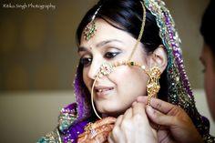 Kumaoni bride, wearing an entique nath
