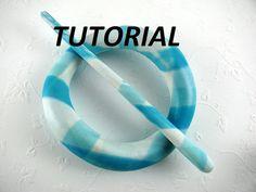 Tutorial Polymer Clay PDF Hair Accessory Scarf Pin by jkollmann