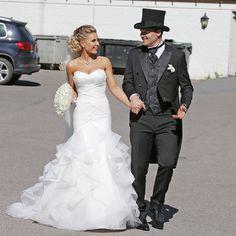FANT KJOLEN I OSLO: Louise Angelica Riise giftet seg med John Arne Riise i en kjole hun kjøpte på en brudesalong i Oslo. Foto: Trond Solberg/VG