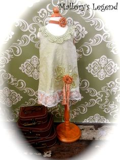 Adelle Dress Hand Dyed VinTage InspiRed ShabBy by MallorysLegend, $54.00