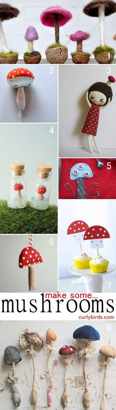 Wow - what a great collection of mushrooms. I what to make all of them! From curlybirds.com