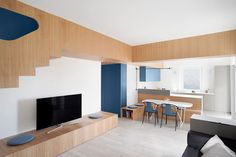 Gosplan Renovates This House In Genoa Adding Huge Wooden Core