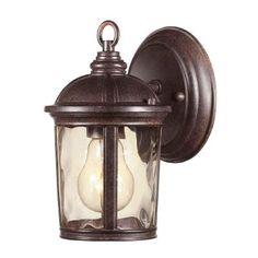 Hampton Bay Leeds Mystic Bronze Outdoor Wall Lantern-HB7261-293 - The Home Depot