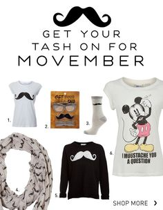 Get your tash on for Movember  #nlmovember #newlookfashion #moustache #movember