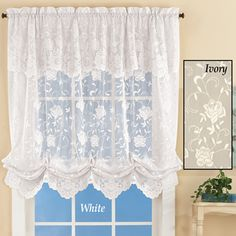 Floral Lace Balloon Shade Window Curtain