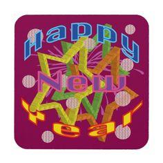Happy New Year Drink Coaster