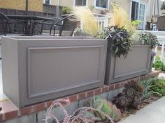 planter boxes from closet doors. check out the DIY steps!