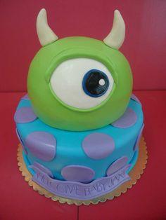 Monsters Inc. themed cake www.bakedinmoore.com