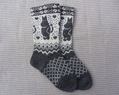 Knit wool socks, wool socks with a pattern, handmade socks,christmas socks, fairisle socks Fair Isle Knitting Patterns, Knitting Charts, Knitting Socks, Free Knitting, Knit Leg Warmers, Wool Socks, Alpaca Wool, Yarn Crafts, Knit Crochet