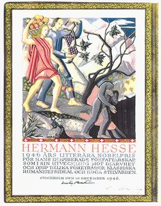 Nobel prize for literature 1946 to Hermann Hesse © Fondazione Hermann Hesse Montagnola