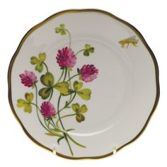 Herend - American Wildflowers Red Clover. Bread & Butter Plate