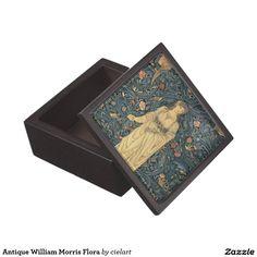 Antique William Morris Flora Keepsake Box
