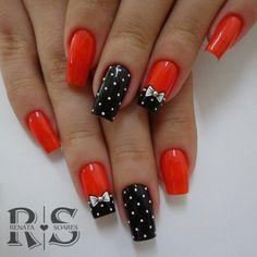 30 Unhas laranjas lindas e poderosas