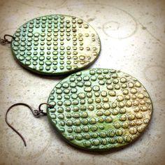 lightweight paper clay earrings