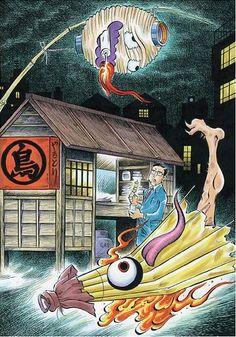 "Képtalálat a következőre: ""chochinobake tattoo"" Japanese Yokai, Manga Artist, Japanese Art, Eclectic Art, Scary Monsters, Japanese Myth, Art, Japanese Folklore, Mythological Creatures"