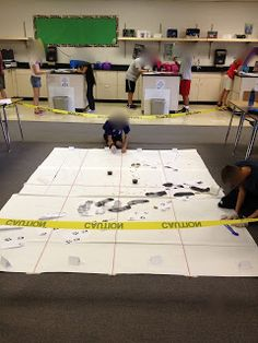The Murder Mystery in Room 910 (middle grades forensic intro into the scientific method)