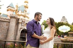 Disneyland - same location as where we took engagement & wedding d-land photo