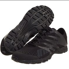 Inov8 shoes, black/black. My fave CrossFit shoes.