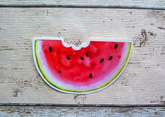 Watermelon Slice Gloss Vinyl Sticker Laptop Stickers Summer