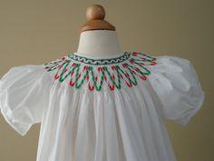 Hand Smocked Little Girls Dress