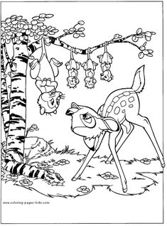 bambi and the possum family bambi color page disney coloring pages color plate