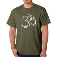 Los Angeles Pop Art Men's T-shirt - The Om Symbol Out of Yoga Poses, Size: 4XL