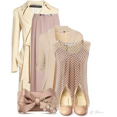 """PInk and Cream"" by gaburrus on Polyvore"
